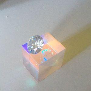 Jewelry - 4.2 carat off white yellow moissanite VS1 & prism!